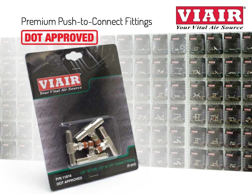 """1//4/"""" to 1//4/"""" to 1//4/"""" Air Line T-Piece DOT Join Connector Push fit Viair PTC Push"""