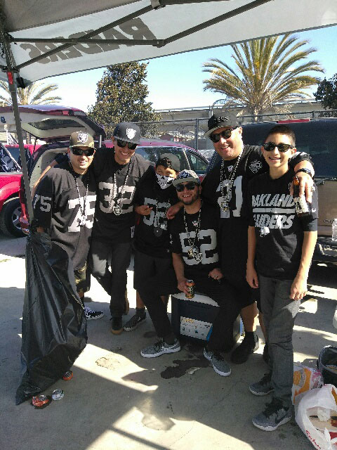 Eddie at the Raiders game